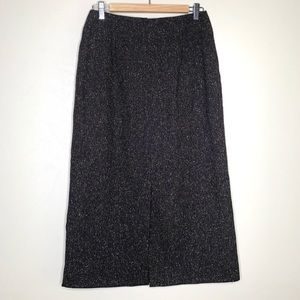 Halogen Wool /Silk Blend Maxi Skirt Brown Size 6